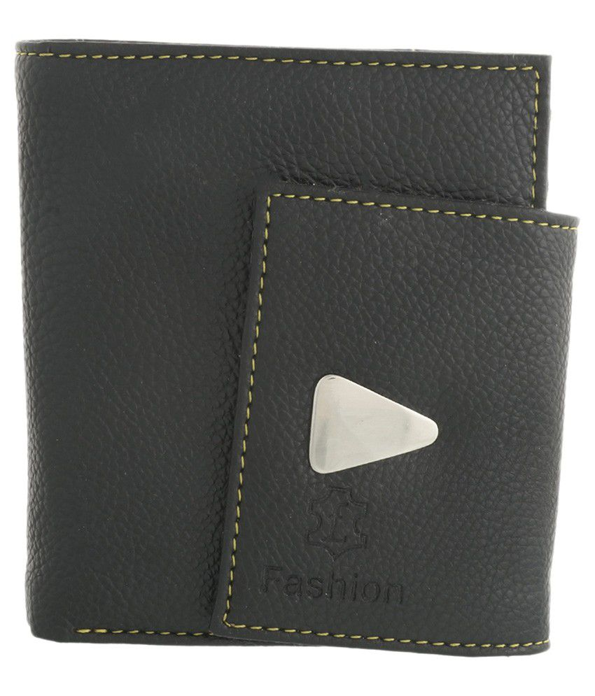 Fashion Leather Black Casual Wallet For Women