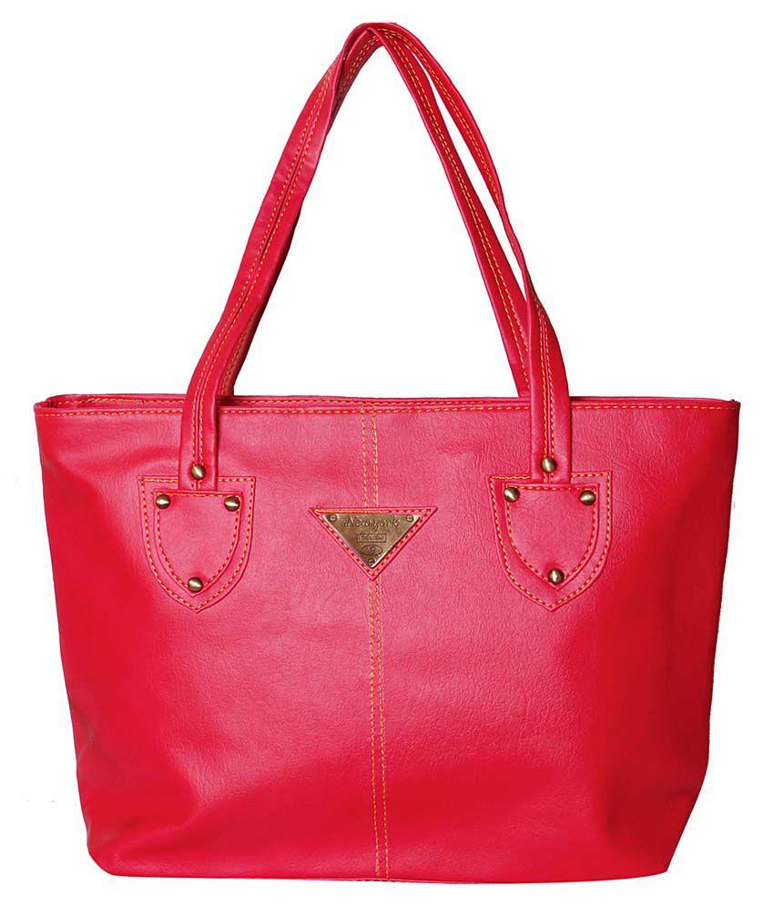 Rg Collection Pink P.u. Shoulder Bag