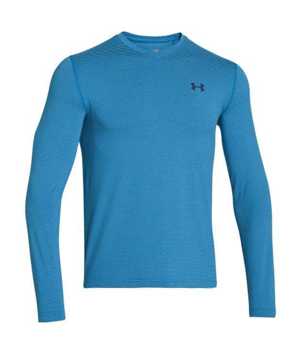 Under Armour Under Armour Men's Coldgear Infrared V-neck Long Sleeve Shirt, Key Blue/academy