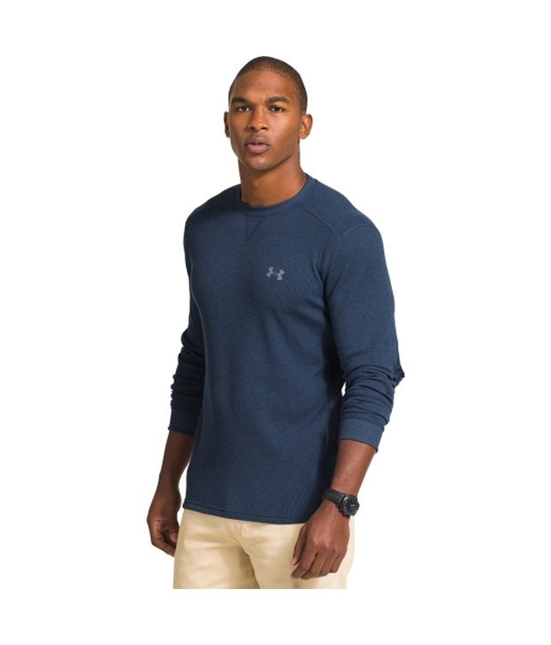 Under Armour Under Armour Men's Amplify Thermal Crewneck Long Sleeve Shirt, Ivory/steel