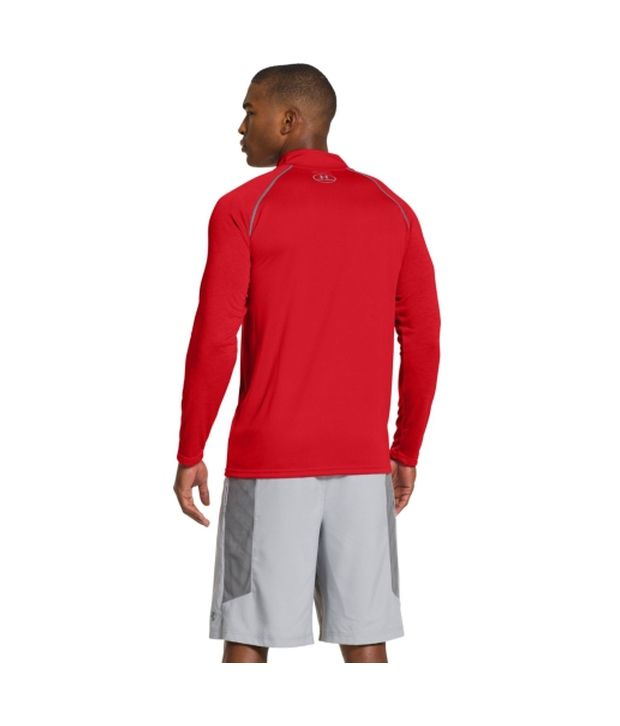 Under Armour Under Armour Men's Ua Tech Quarter Zip Long Sleeve Shirt, Graphite/hyper Green