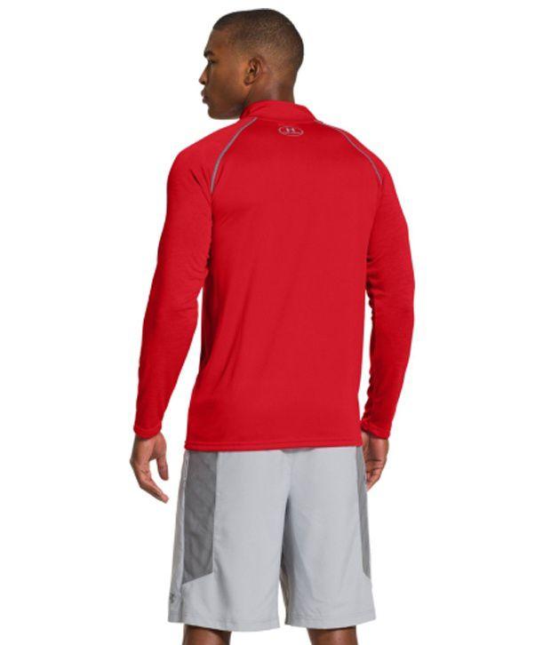 Under Armour Under Armour Men's Ua Tech Quarter Zip Long Sleeve Shirt, Ox Blood/pump/risk Red