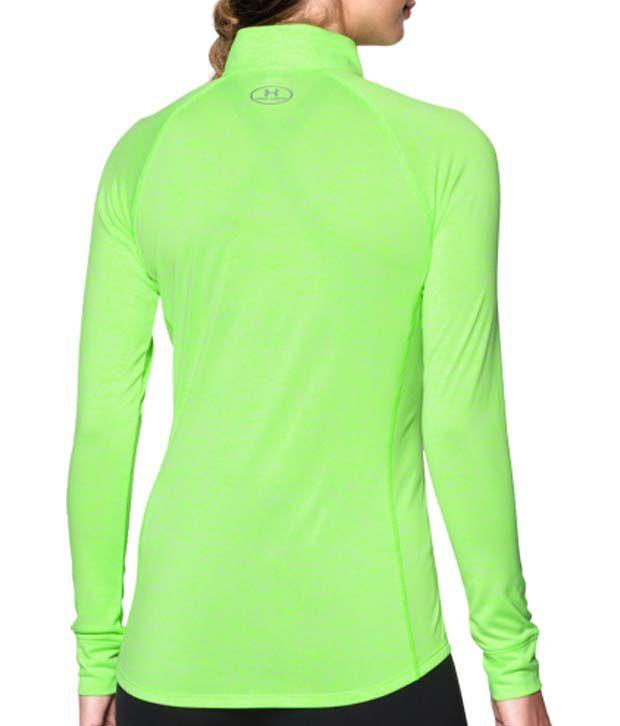 Under Armour Under Armour Women's Tech Twist Half-zip Long Sleeve Shirt, Hyper Green