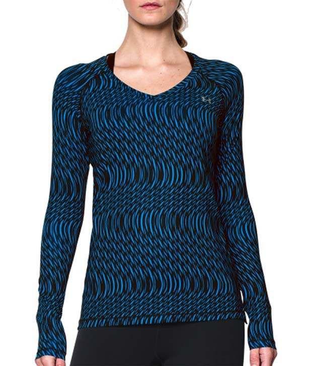 Under Armour Under Armour Women's Heatgear Armour Mesh Printed Long Sleeve Shirt, Veneer/mega Techno Grid
