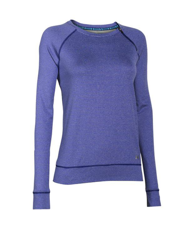 Under Armour Under Armour Women's Coldgear Cozy Zip Crewneck Long Sleeve Shirt, Jazz Blue