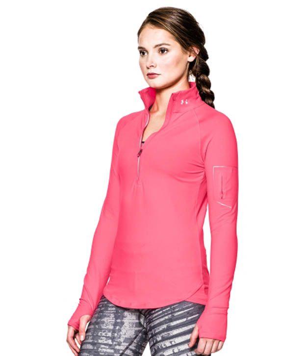 Under Armour Under Armour Women's Fly Fast Half Zip Long Sleeve Shirt, Cyber Orange
