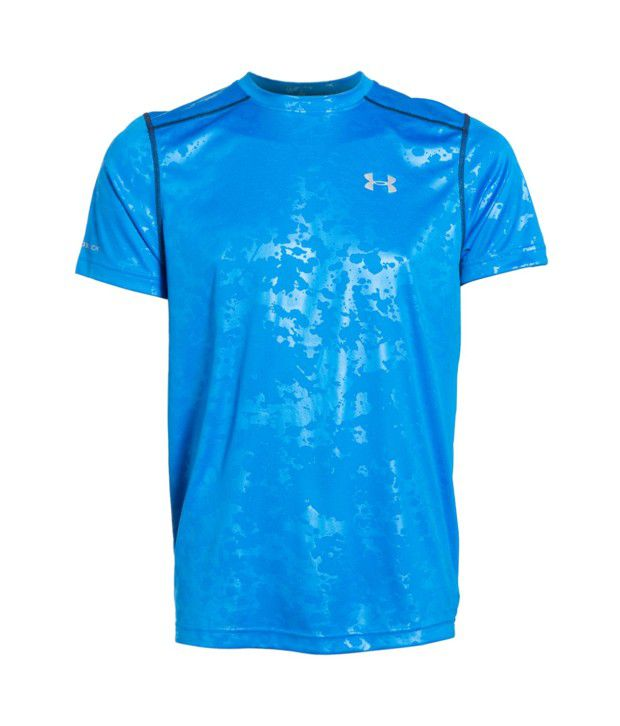 Under Armour Men's Coldblack Short Sleeve T-shirt, Blue Jet