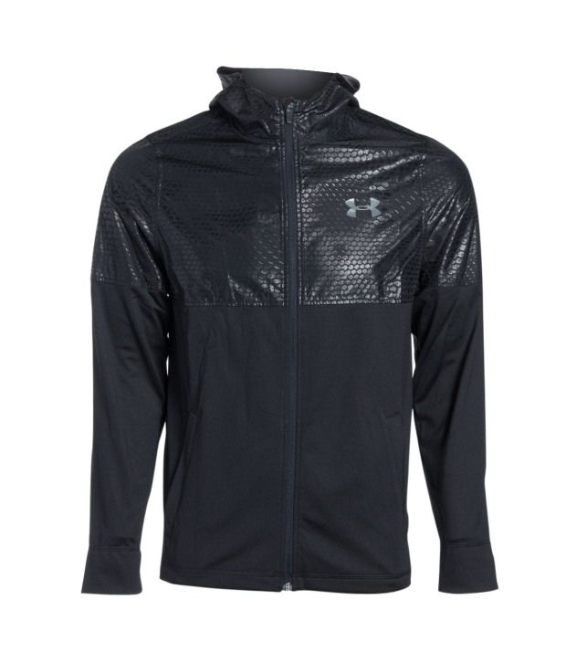 Under Armour Men's Light Weight Full-zip Jacket, Black/black/graphite
