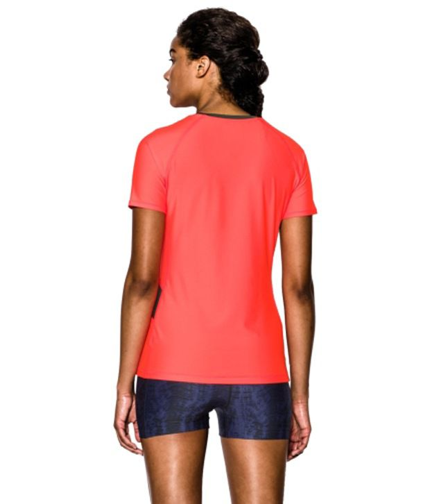 Under Armour Under Armour Women's Heatgear Alpha Printed Short Sleeve Shirt, Citrus Blast