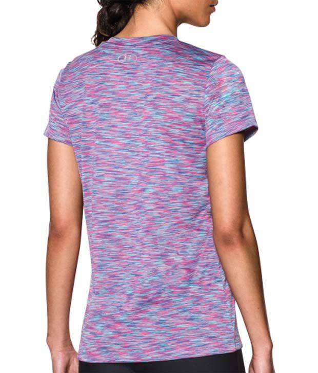 Under Armour Under Armour Women's Tech Disruptive Space Dye V-neck T-shirt, Europa Purple/rebel Pink