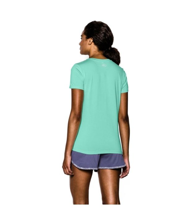 Under Armour Under Armour Women's Twisted Tech V-neck Shirt, Downtown Green