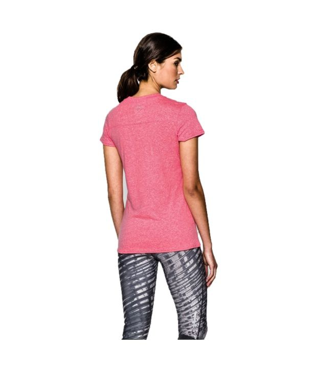 Under Armour Under Armour Women's Charged Cotton Tri-blend Graphic T-shirt, Aubergine/pink Shock