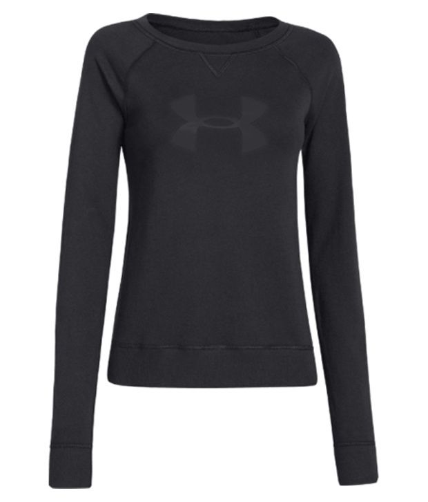 Under Armour Under Armour Women's Pretty Gritty Big Logo Crewneck Sweatshirt, Black/black