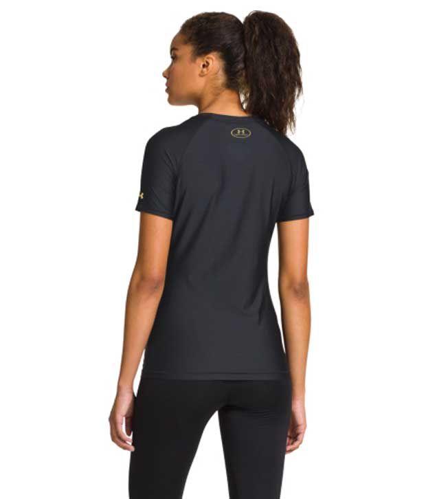 Under Armour Under Armour Women's Alter Ego Batgirl Heatgear Sonic Shimmer Short Sleeve Shirt, Black/msv