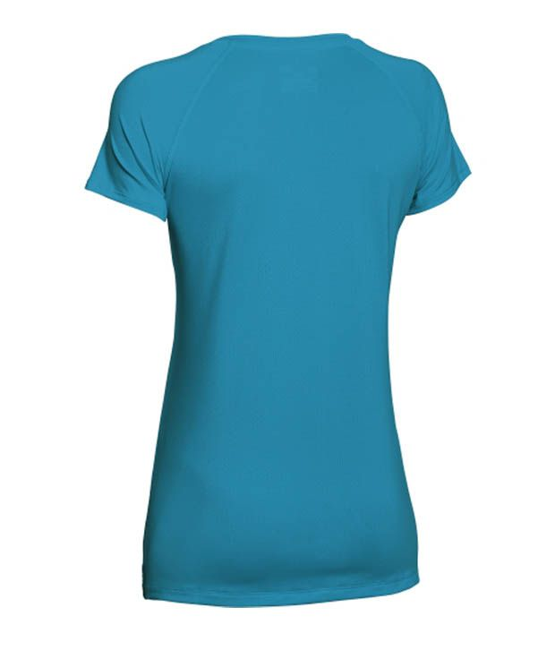 Under Armour Under Armour Women's Heatgear Armour Mesh V-neck T-shirt, Cyber Orange