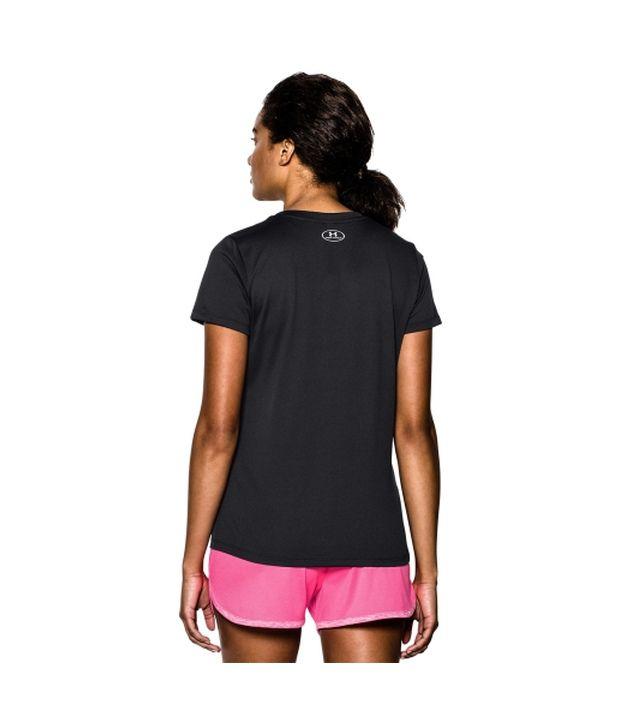 Under Armour Under Armour Women's Tech V-neck Short Sleeve Shirt, Rebel Pink