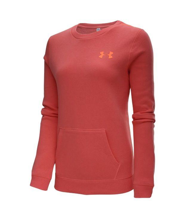 Under Armour Under Armour Women's Essential Cotton Crewneck Sweatshirt, Neo Pulse/citrus Blast