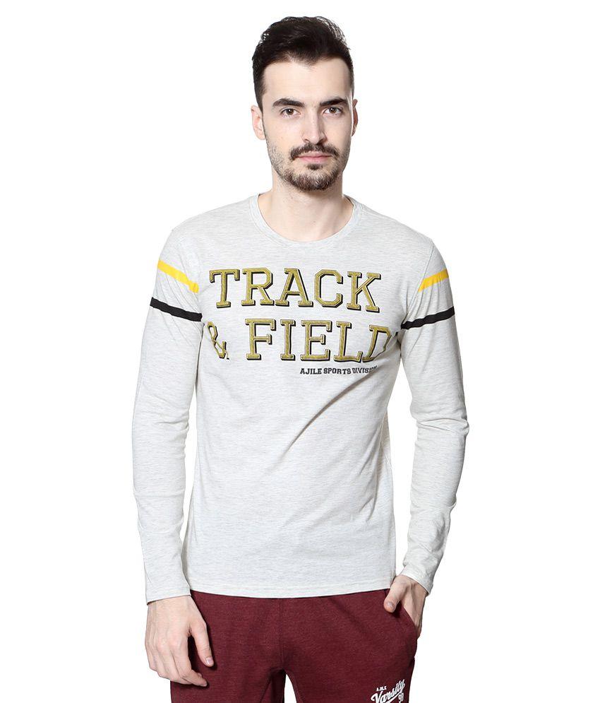 Ajile by Pantaloons Grey Round Neck T Shirt