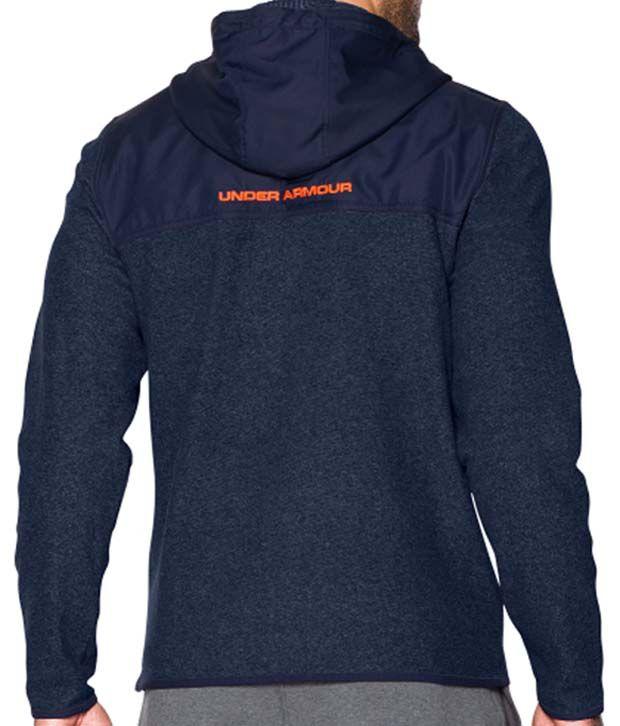 Under Armour Men's ColdGear Infrared Survival Fleece Full-Zip Hoodie Cobalt/Academy