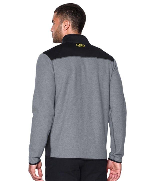 Under Armour Men's ColdGear Infrared Quarter Zip Survival Fleece Long Sleeve Shirt Greenhead/Black
