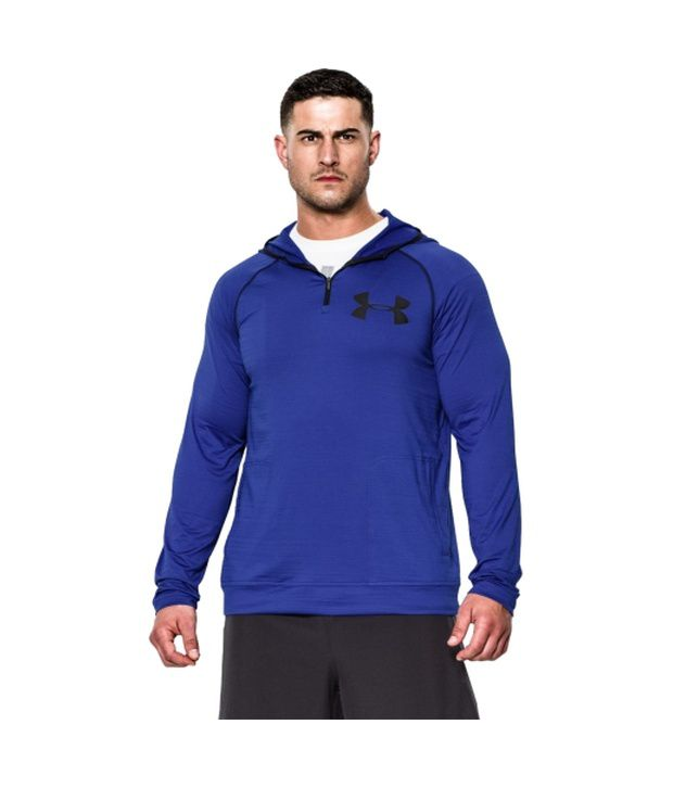 Under Armour Men's Combine Training Slub Fleece Quarter Zip Hoodie Royal
