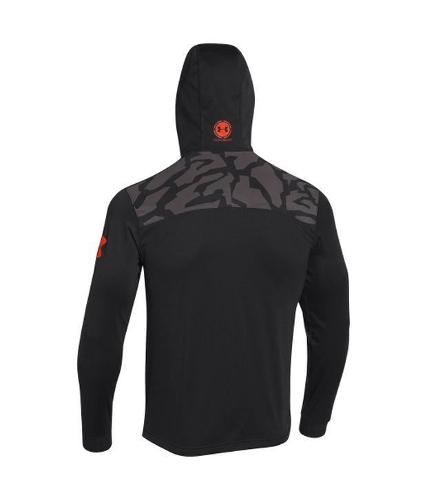 Under Armour Men's Combine Training Tundra Quarter Zip Hoodie Risk Red/Black/Black