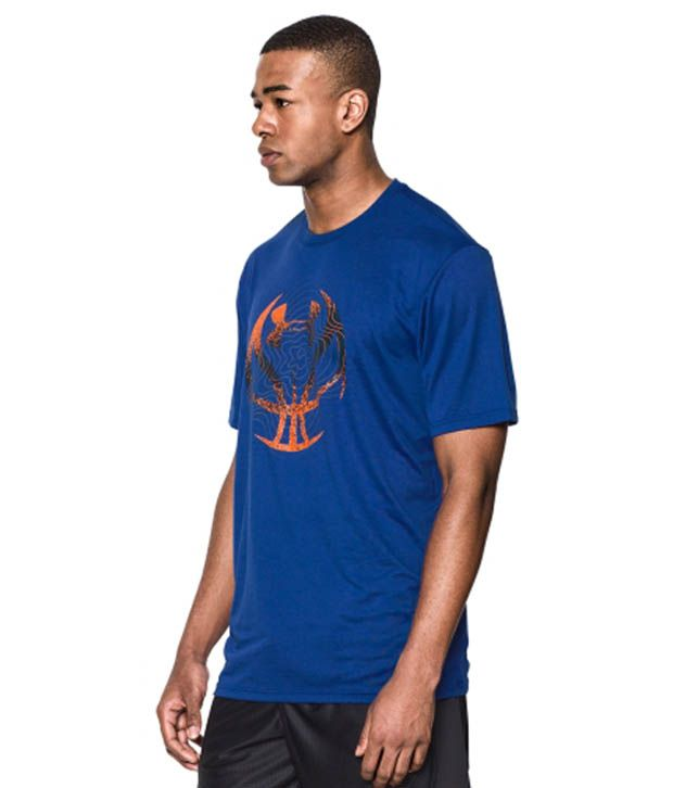 Under Armour Men's Future Icon Graphic Basketball T-Shirt, White/Steel/Petrol Blue