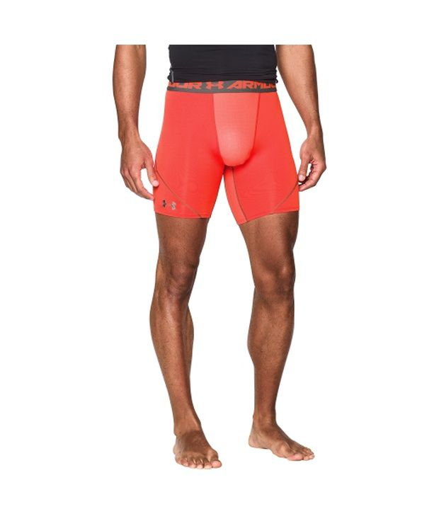 Under Armour Men's HeatGear Armour Stretch Compression Shorts White/Graphite