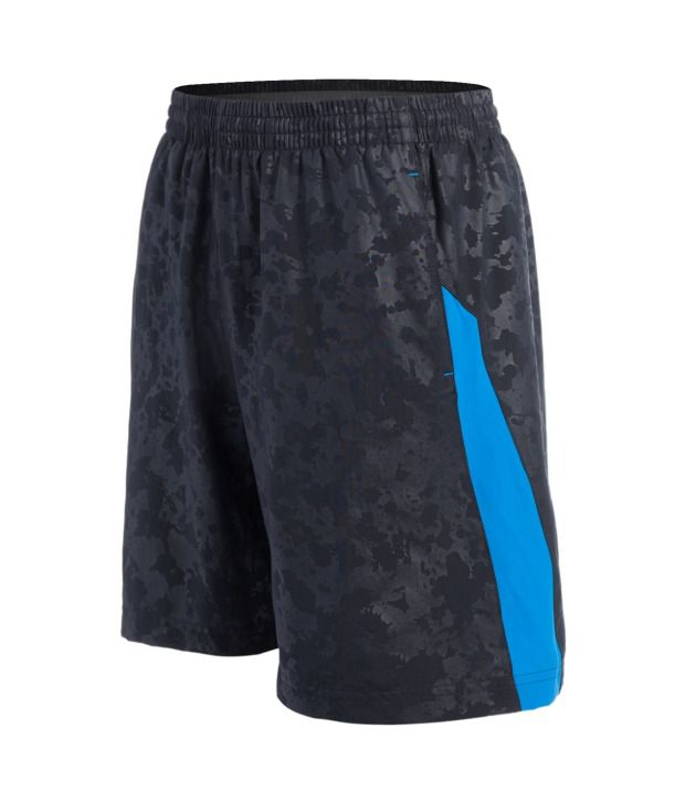 Under Armour Men's Launch Woven 7 Inch Running Short, Black/Blue Jet