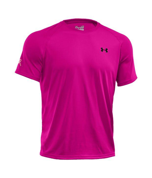 Under Armour Men's Power in Pink Tech T-Shirt, Tropic Pink
