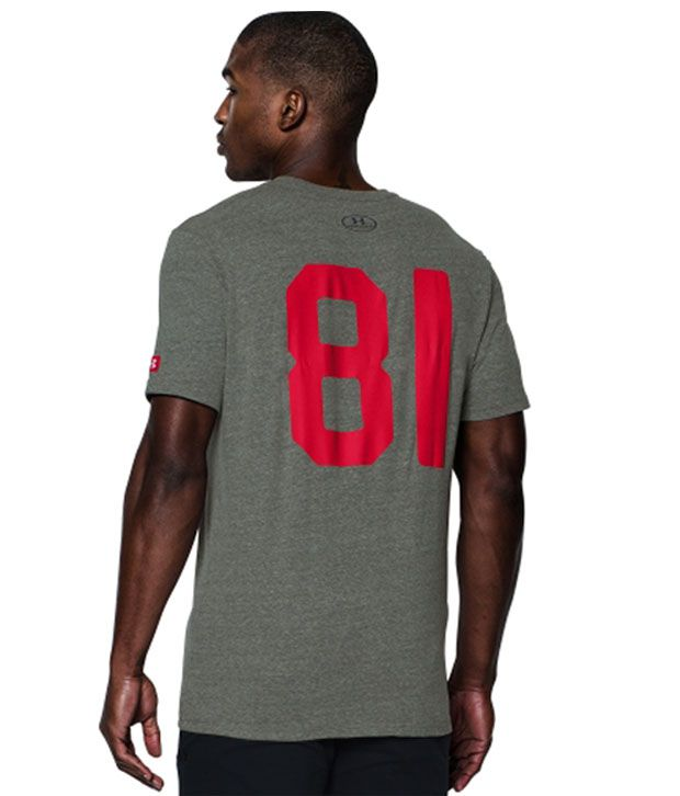 Under Armour Men's Roots Of Fight Mike Tyson Kid Dynamite Graphic T-Shirt, Greyhound Heather