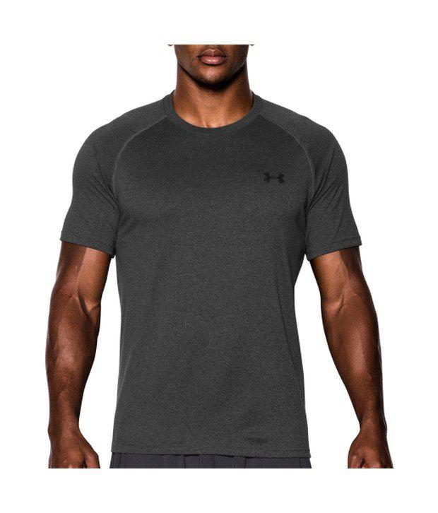 Under Armour Men's Tech II T-Shirt, Bolt Orange/Cobalt