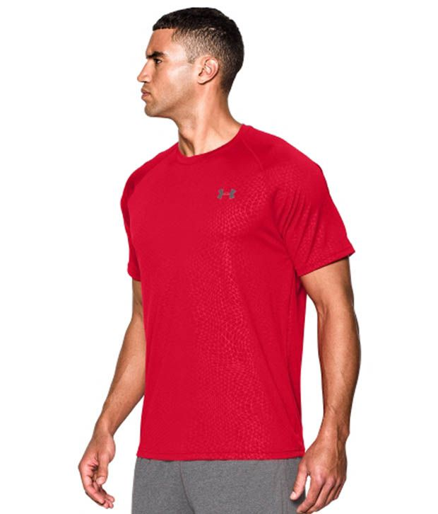 Under Armour Men's Tech Apex Patterned T-Shirt, Artillerygreenatgtanstone