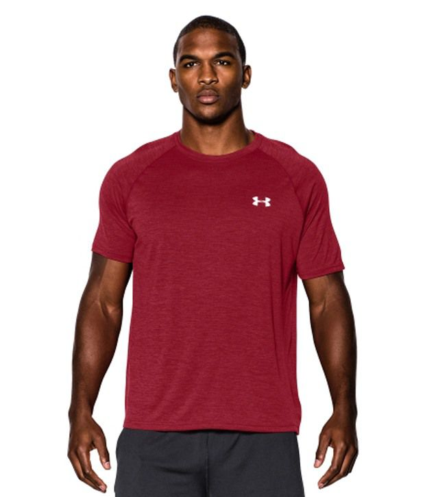 Under Armour Men's Twist Tech Short Sleeve Shirt, Black Twist/White