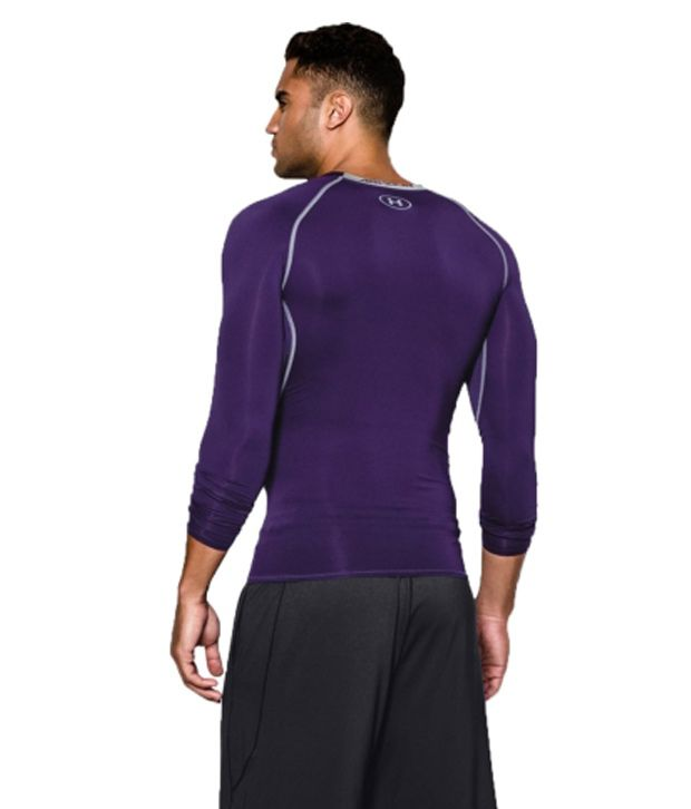 Under Armour Under Armour Men's Heatgear Armour Long Sleeve Compression Shirt, White/graphite