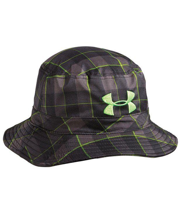 Under Armour Under Armour Men's Plaid Yard Dye Bucket Hat, Black/steel