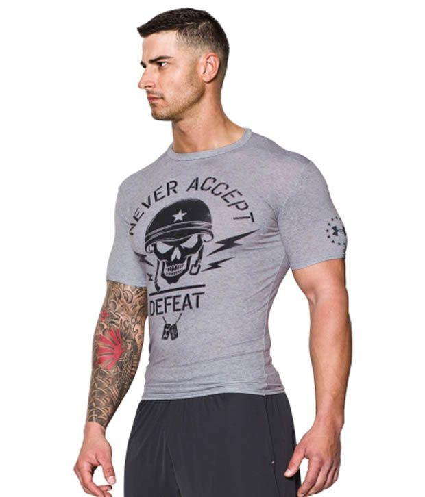 Under Armour Under Armour Men's Ua Freedom Army Compression Short Sleeve Shirt, True Grey Heather