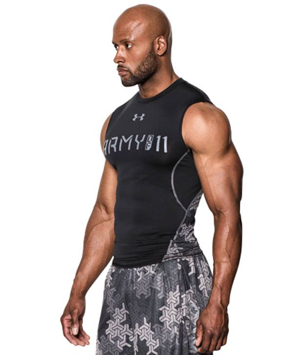Under Armour Under Armour Men's Army Of 11 Sleeveless Compression Shirt, Black/graphite