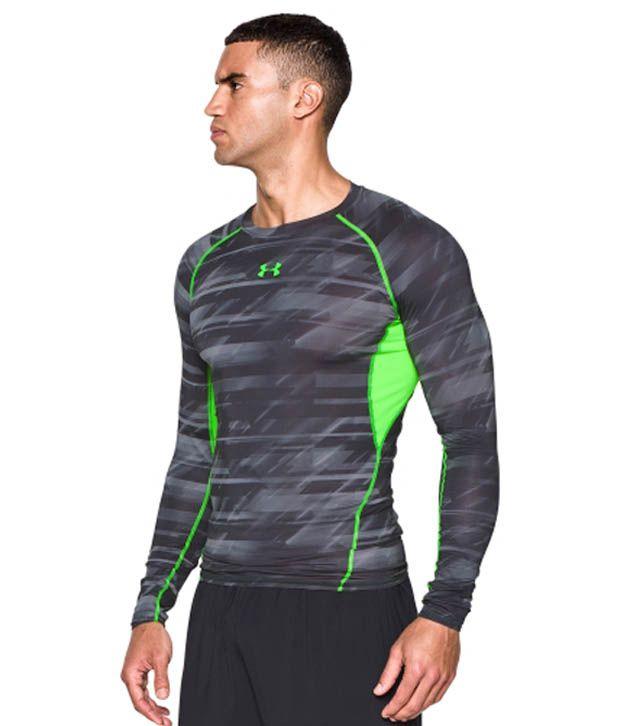Under Armour Under Armour Men's Heatgear Armour Launch Print Compression Long Sleeve Shirt, Amalgam Grey/steel
