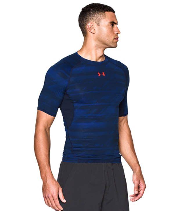 Under Armour Under Armour Men's Heatgear Armour Launch Print Compression T-shirt, Academy/bolt Orange