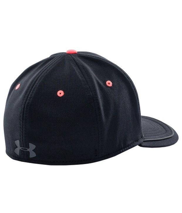 Under Armour Under Armour Men's Flat Brim Stretch Fit Hat, Red/steel