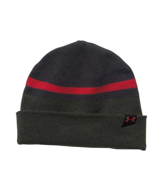 Under Armour Under Armour Men's 4-in-1 Beanie 2.0, Black/artillery Green