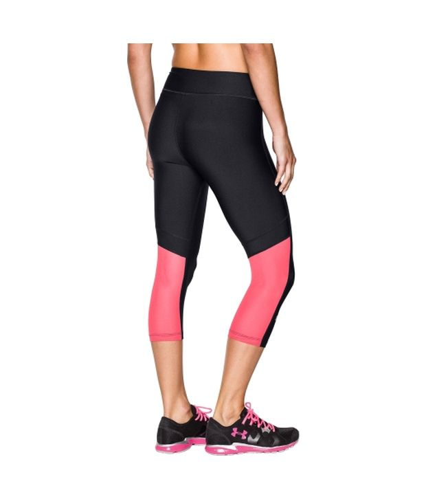 Under Armour Under Armour Women's Heatgear Alpha Mesh Capris, Faded Ink/afterglow/msv