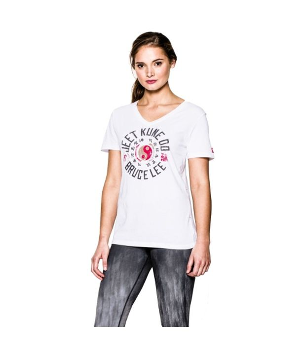 Under Armour Under Armour Women's Roots Of Fight Yin Yang Graphic V-neck T-shirt, White