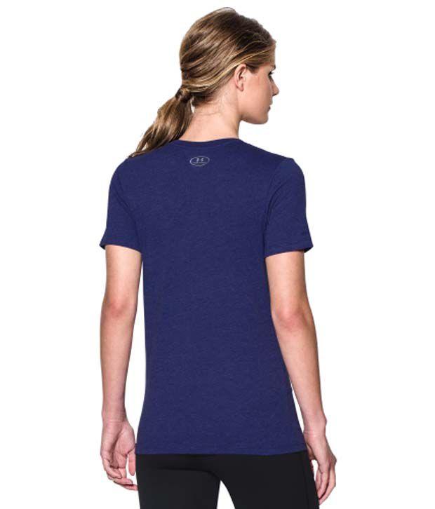 Under Armour Under Armour Women's Charged Cotton Tri-blend Wordmark V-neck T-shirt, Graphite