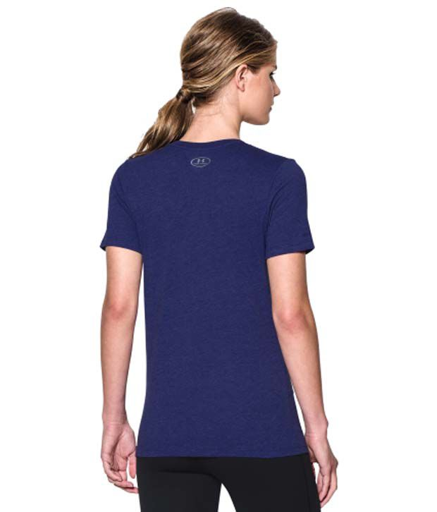 Under Armour Under Armour Women's Charged Cotton Tri-blend Wordmark V-neck T-shirt, Mirror/coho