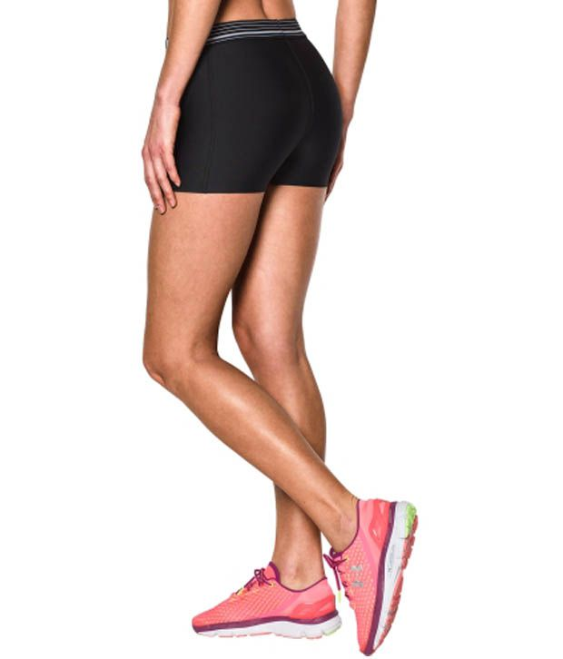 Under Armour Under Armour Women's Heatgear Armour 3 Inches Compression Shorts, Pacific/black