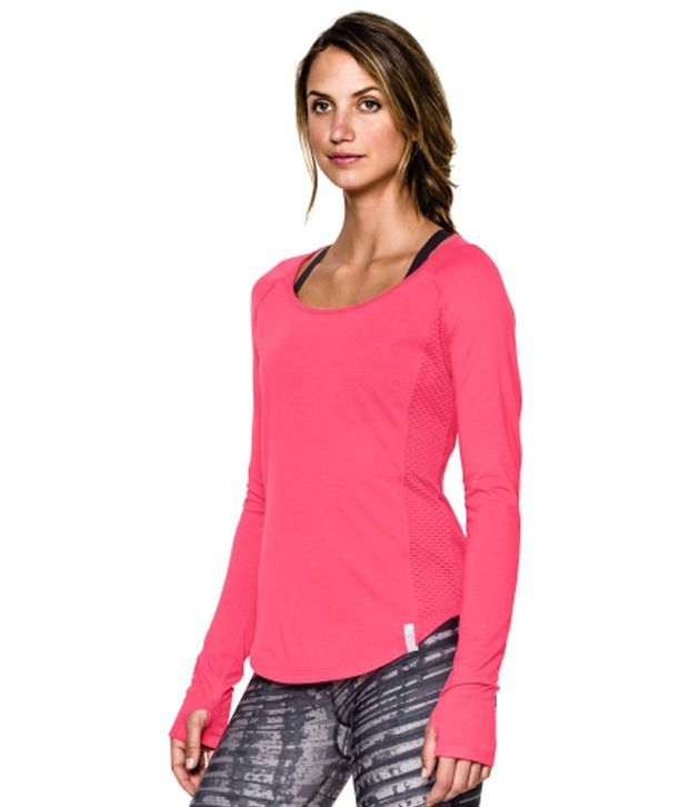 Under Armour Women's Fly-By Long Sleeve Shirt, Steeple Gray/Ref