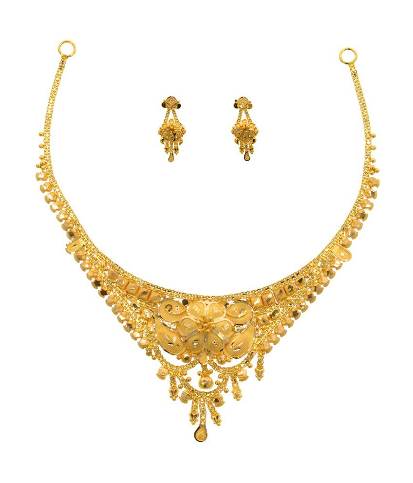 Abhijewels 22kt Gold Necklace Set