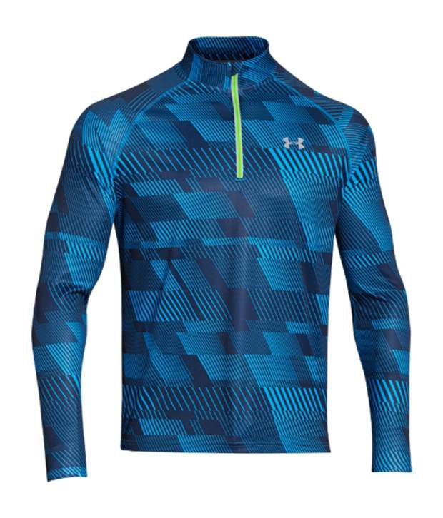 Under Armour Under Armour Men's Promise Land Quarter-zip Long Sleeve Shirt, Academy/electric Blue/ref
